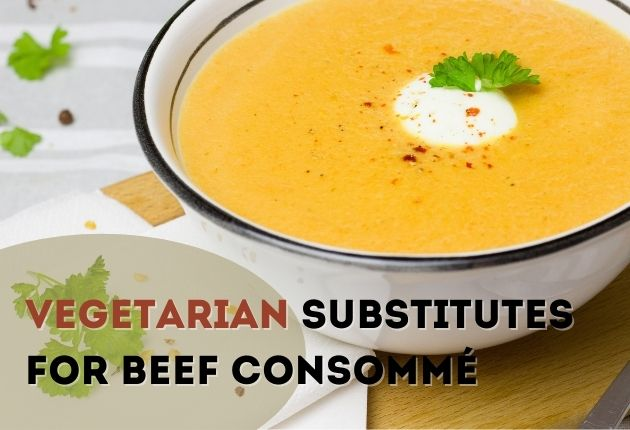 Vegetarian substitutes for beef consomme
