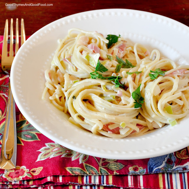 Pasta with White Beans and Prosciutto
