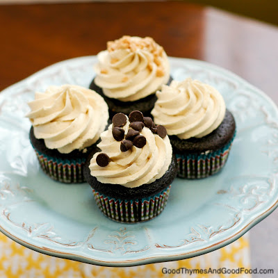 Chocolate Cupcakes with Cookie Dough Buttercream