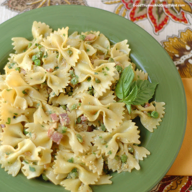 Pasta with Pancetta and Peas